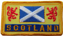 Scotland Saltire & Lions Rampant Embroidered Patch  - A535